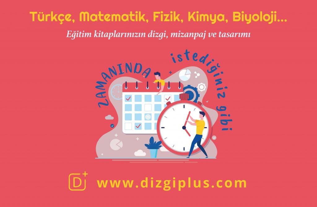 türkçe, matematik, eğitim kitapları dizgi mizanpaj tasarımı